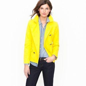 J crew yellow jacket